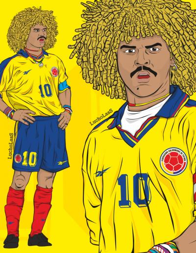 Carlos el Pibe Valderrama - Selección Colombia 1998 | LuchoLasS